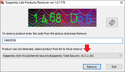 Image: removing the remains of earlier Kaspersky Lab applications