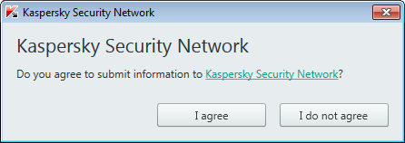 Confirm your consent to participate in Kaspersky Security Network