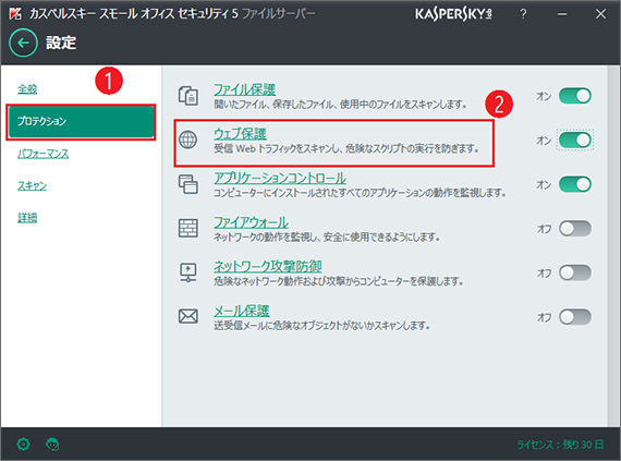 Image: Privacy Protection window in Kaspersky Small Office Security 5