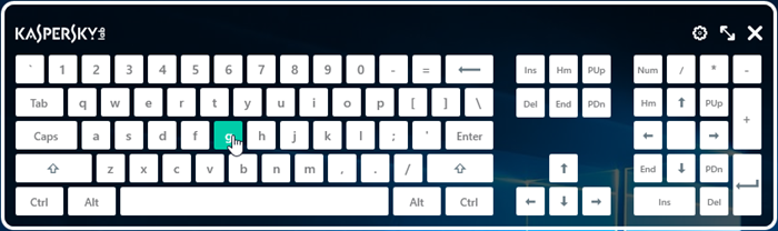 Image: On-Screen Keyboard in use