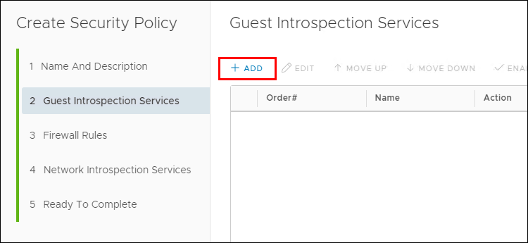 Adding File Anti-Virus to a NSX Security Policy