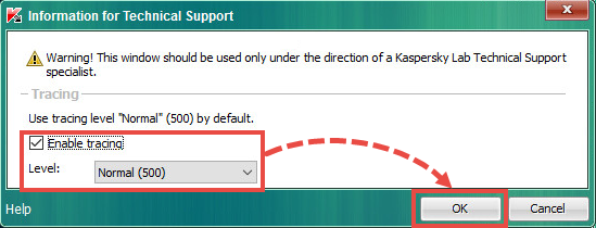 Enabling traces in Kaspersky Security for Virtualization 4.0 Light Agent