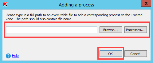 Excluding a process from scan based on its path and name in Kaspersky Security 10.x for Windows Server